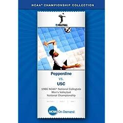 1986 NCAA National Collegiate Men's Volleyball National Championship - Pepperdine vs. USC