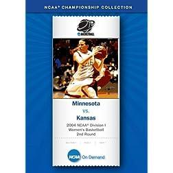 2004 NCAA Division I Women's Basketball 2nd Round - Minnesota vs. Kansas
