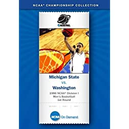 1986 NCAA Division I Men's Basketball 1st Round - Michigan State vs. Washington