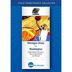 1986 NCAA Division I Men's Basketball 1st Round - Michigan State vs. Washington