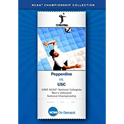 1985 NCAA National Collegiate Men's Volleyball National Championship - Pepperdine vs. USC