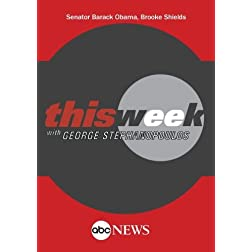 ABC News This Week Senator Barack Obama, Brooke Shields