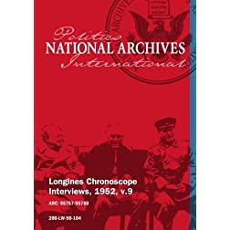 Longines Chronoscope Interviews, 1952, v.9: DR. JULES BACKMAN, TIGHE WOODS