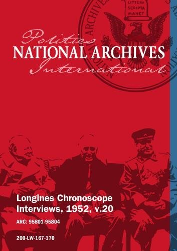 Longines Chronoscope Interviews, 1952, v.20: GEORGE A. SLOAN, SEN. HERBERT O'CONOR
