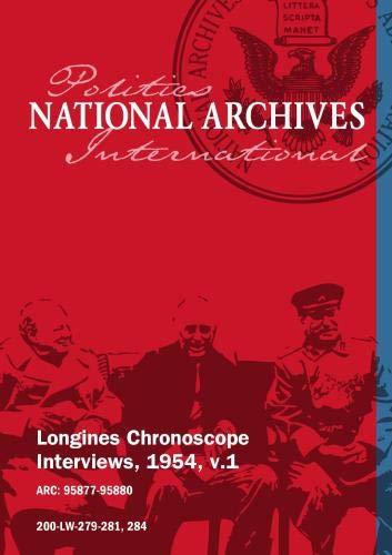 Longines Chronoscope Interviews, 1954, v.1: WALTER WILLIAMS, MRS. ANNA LORD STRAUSS