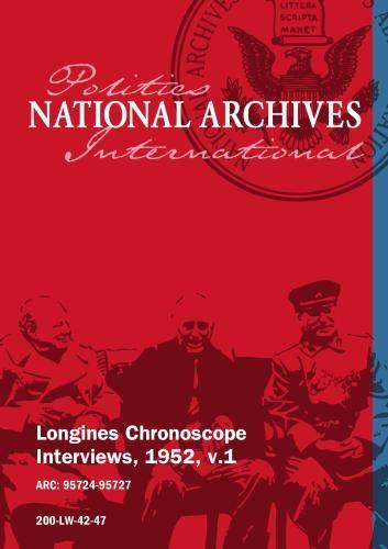 Longines Chronoscope Interviews, 1952, v.1: HAROLD STASSEN, IRVING IVES