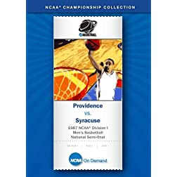 1987 NCAA Division I Men's Basketball National Semi-final - Providence vs. Syracuse