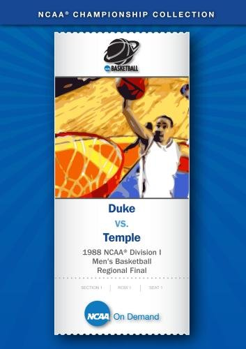 1988 NCAA Division I Men's Basketball Regional Final - Duke vs. Temple