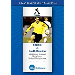 1993 NCAA Division I Men's Soccer National Championship - Virginia vs. South Carolina