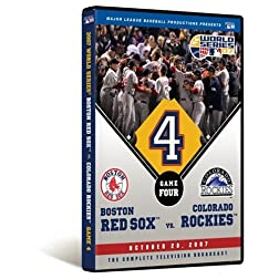 2007 World Series Game 4 - Boston Red Sox 4, Colorado Rockies 3