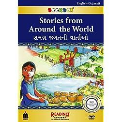 Stories from Around the World (BookBox) English-Gujarati