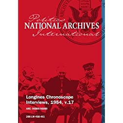 Longines Chronoscope Interviews, 1954, v.17: Albert Cole, Hartley Shawcross