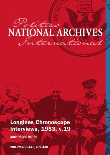 Longines Chronoscope Interviews, 1953, v.19: W. Harriman, Daniel Poling