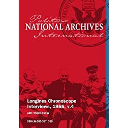 Longines Chronoscope Interviews, 1955, v.4: Maurice Couv de Murville, Rufus Clement