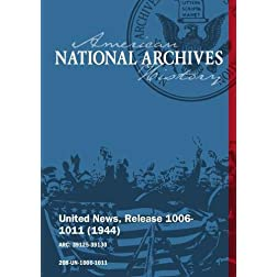 United News, Release 1006-1011 (1944) BATTLE FOR FRANCE, NAZI EXODUS FROM ROME
