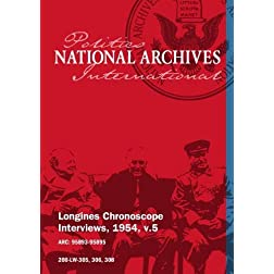 Longines Chronoscope Interviews, 1954, v.5: WILLIAM A. DAWSON, OLIVER LA FARGE