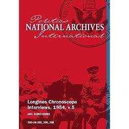 Longines Chronoscope Interviews, 1954, v.5: WILLIAM A. DAWSON, OLIVER LA FARGE