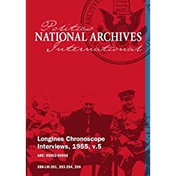 Longines Chronoscope Interviews, 1955, v.5: Senator Thomas Kuchel , Coleman Andrews
