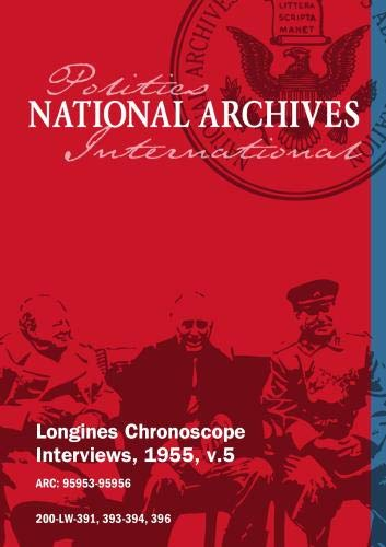 Longines Chronoscope Interviews, 1955, v.5: Senator Thomas Kuchel , Coleman Andrews