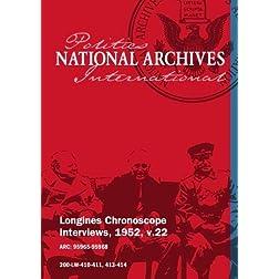 Longines Chronoscope Interviews, 1952, v.22: Elbert Carvel, John Foster Dulles