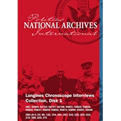 Longines Chronoscope Interviews Collection, Disk 1