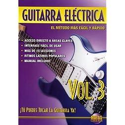 Guitarra Eléctrica, Vol 3: ¡Tú Puedes Tocar La Guitarra Ya! (Spanish Language Edition) (DVD)