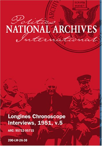 Longines Chronoscope Interviews, 1951, v.5: HELEN HAYES, SEN. JOSEPH R. MCCARTHY