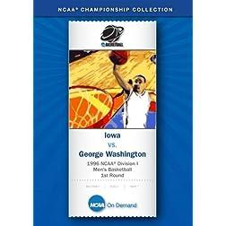 1996 NCAA Division I Men's Basketball 1st Round - Iowa vs. George Washington