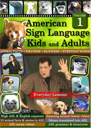 American Sign Language for Kids and Adults; Volume 1 (2 Discs)