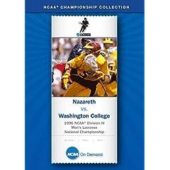 1996 NCAA Division III Men's Lacrosse National Championship - Nazareth vs. Washington College