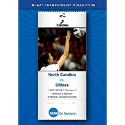 1987 NCAA Division I Women's Soccer National Championship - North Carolina vs. UMass