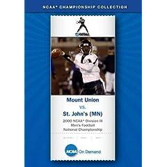 2000 NCAA Division III Men's Football National Championship - Mount Union vs. St. John's (MN)