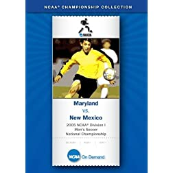 2005 NCAA Division I Men's Soccer National Championship - Maryland vs. New Mexico