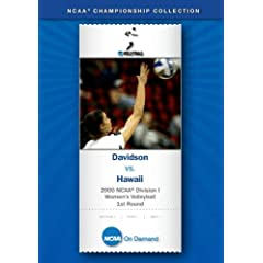 2000 NCAA Division I Women's Volleyball 1st Round - Davidson vs. Hawaii