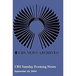 CBS Sunday Evening News (September 19, 2004)
