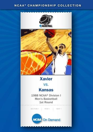 1988 NCAA Division I Men's Basketball 1st Round - Xavier vs. Kansas