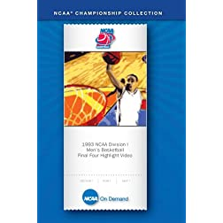 1993 NCAA Division I Men's Basketball  Final Four Highlight Video