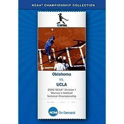 2000 NCAA Division I Women's Softball National Championship - Oklahoma vs. UCLA