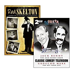 Red Skelton: America's Favorite Funnyman / Groucho Marx - You Bet Your Life / The Jack Benny Show (4-DVD Pack)