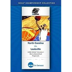 1986 NCAA Division I Men's Basketball Regionals - North Carolina vs. Louisville