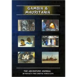 Gambia & Mauritania Royalty Free Stock Footage