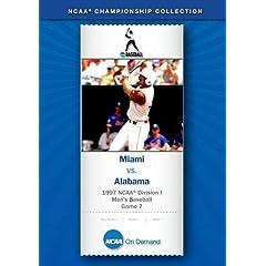 1997 NCAA Division I Men's Baseball Game 7 - Miami vs. Alabama