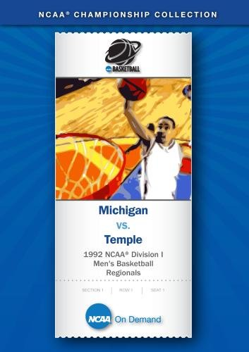 1992 NCAA Division I  Men's Basketball Regionals - Michigan vs. Temple