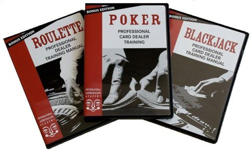Easy Professional Casino Dealer Job Training Set: Poker/Roulette/BlackJack