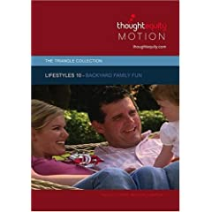 Lifestyles 10 - Backyard Family Fun (Royalty Free Motion Video)