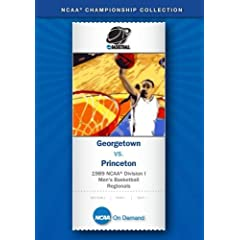 1989 NCAA Division I  Men's Basketball Regionals - Georgetown vs. Princeton
