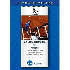 1994 NCAA Division I  Women's Softball National Championship - CA State Northridge vs. Arizona