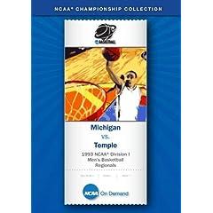 1993 NCAA Division I  Men's Basketball Regionals - Michigan vs. Temple