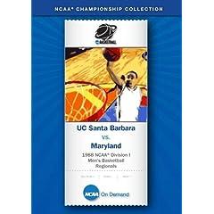 1988 NCAA Division I  Men's Basketball Regionals - UC Santa Barbara vs. Maryland
