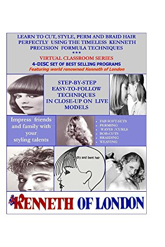 LEARN TO CUT & STYLE HAIR AT HOME/4-DVD SET